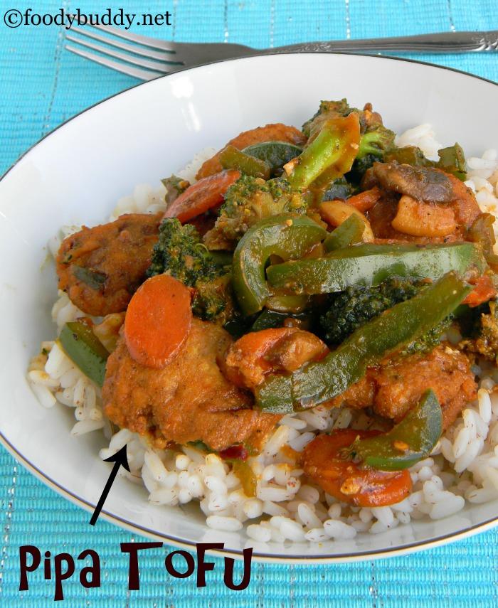 Vegetarian Pipa Tofu Recipe / Pi Pa Dou Fu