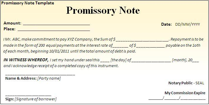 promise to pay template anuvratinfo – Promise to Pay Note