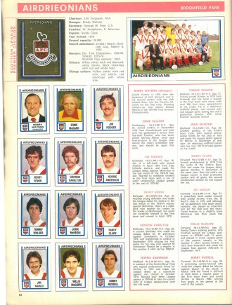 Airdrieonians 1981