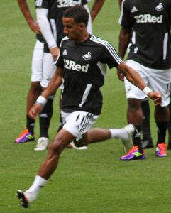 Scott Sinclair wasted a golden opportunity to draw Swansea City level against Manchester United.