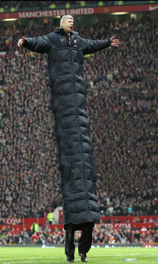 An extended version of Arsene Wenger's coat