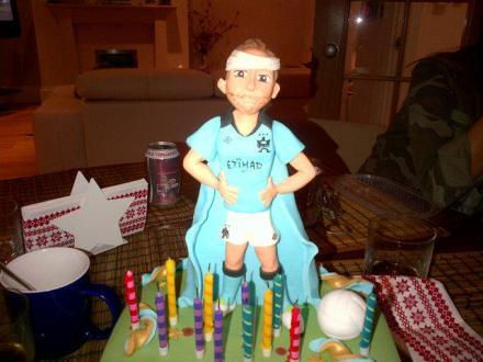 Pablo Zabaleta's birthday cake for 2013