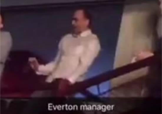 Everton manager Roberto Martínez dancing at a Jason Derulo concert, allegedly