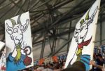Marseille fans played the Benny Hill theme as they portrayed their under-performing players as goats