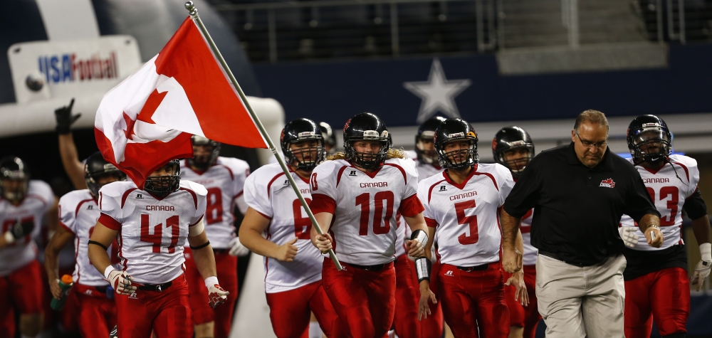 U18 NT out of tunnel at 2015 International Bowl