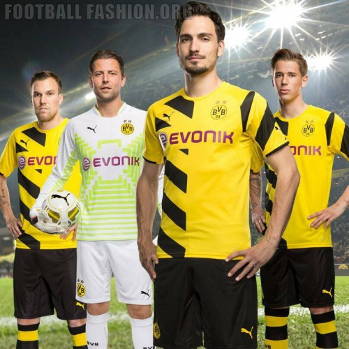 borussia dortmund 201415 puma home and away kits