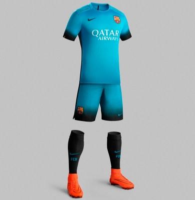 Fc Barcelona Reveal Bright Blue 2015 16 Nike Third Kit