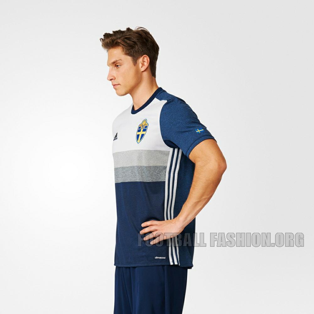 Sweden Euro 2016 Adidas Away Kit Football Fashion Org