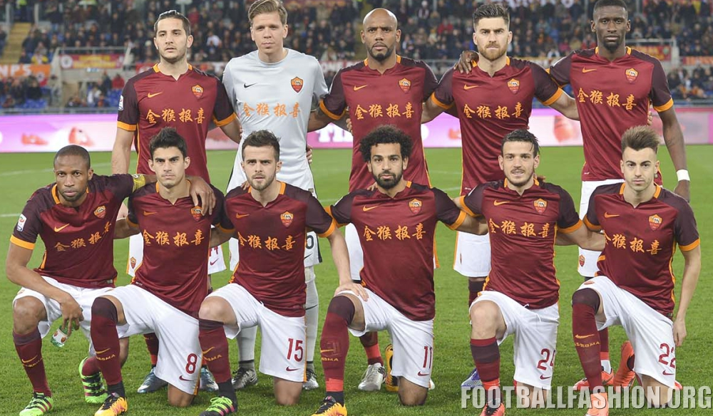 AS Roma 2016 Chinese New Year Home Football Kit, Soccer Jersey, Shirt ...