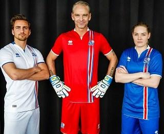 Iceland EURO 2016 Errea Home and Away Kits