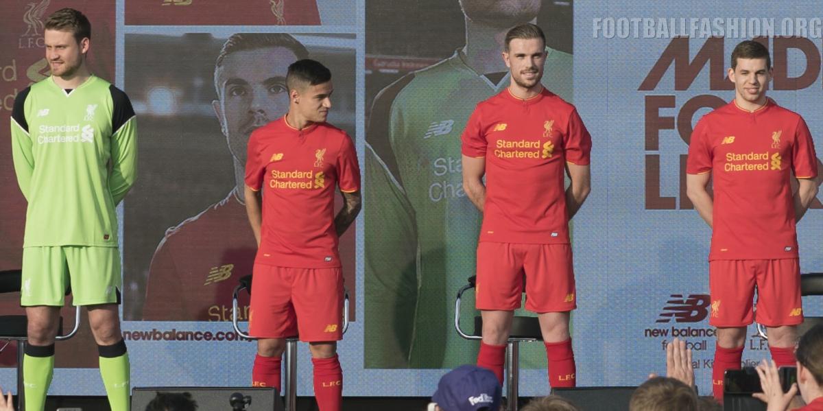 Liverpool Fc  New Balance Home Kit Football Fashion Org