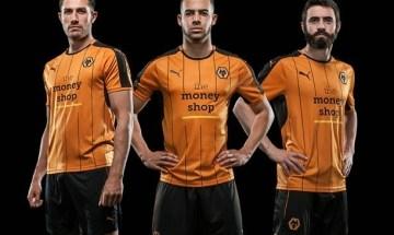 Wolverhampton Wanderers FC 2016 2017 PUMA Home Football Kit, Soccer Jersey, Shirt