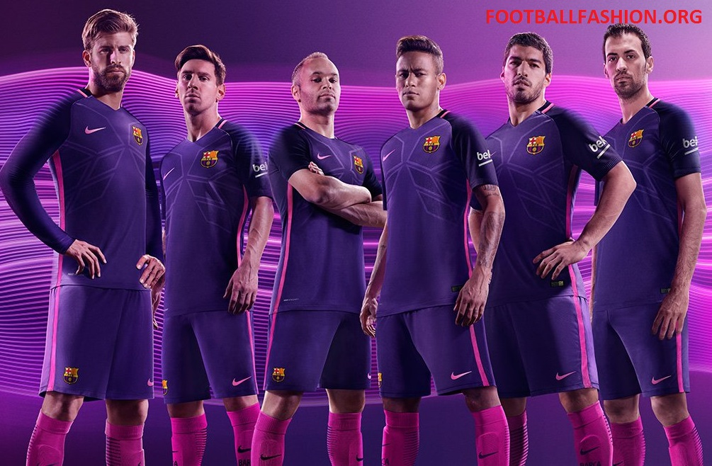 fc barcelona 2016 17 nike away kit football fashion org
