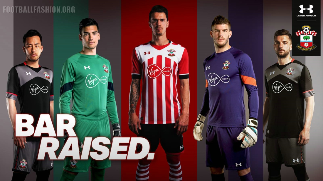 Southampton Fc  Under Armour Home And Away Kits Football