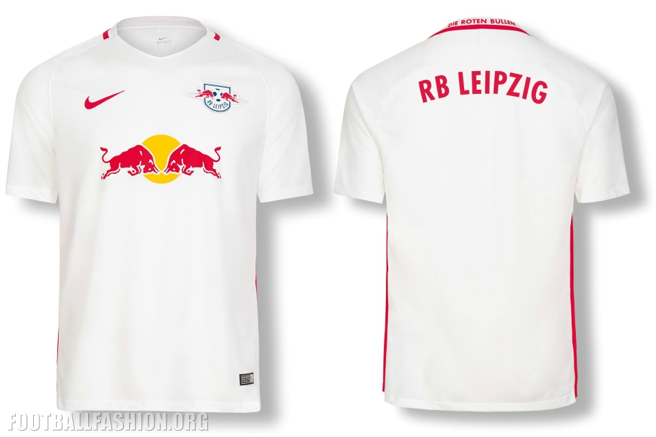 Bull Logo Is Printed In The Sponsor Area Of The New Rb Leipzig Jerseys