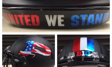 Purdue red white blue