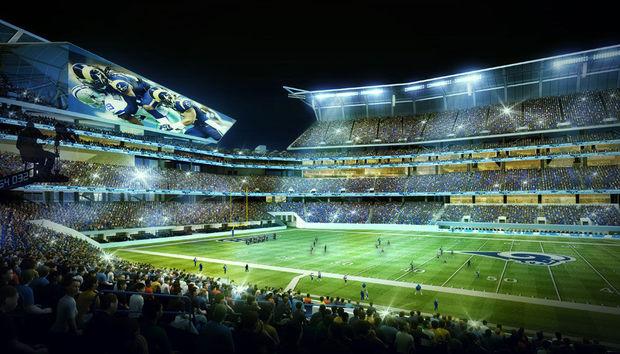 Raiders Wallpaper 3d New St Louis Stadium Plans Unveiled Football Stadium Digest
