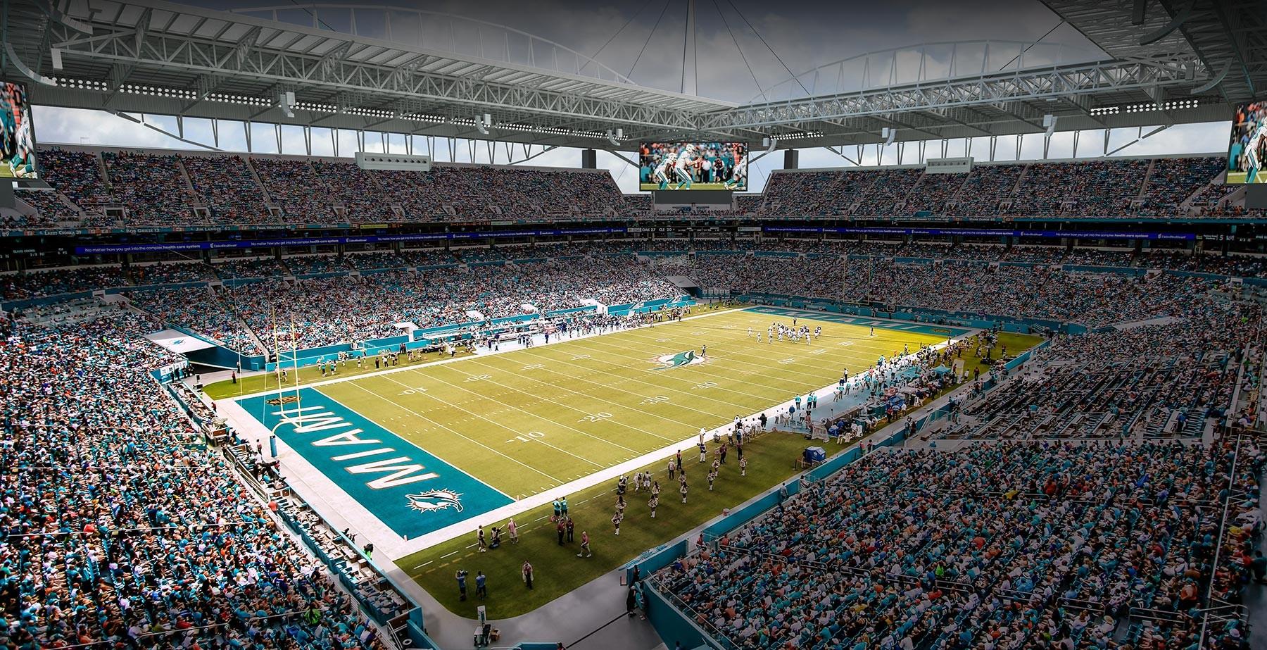 Philadelphia Eagles Wallpaper Hd Turf Installed At New Miami Stadium Football Stadium Digest