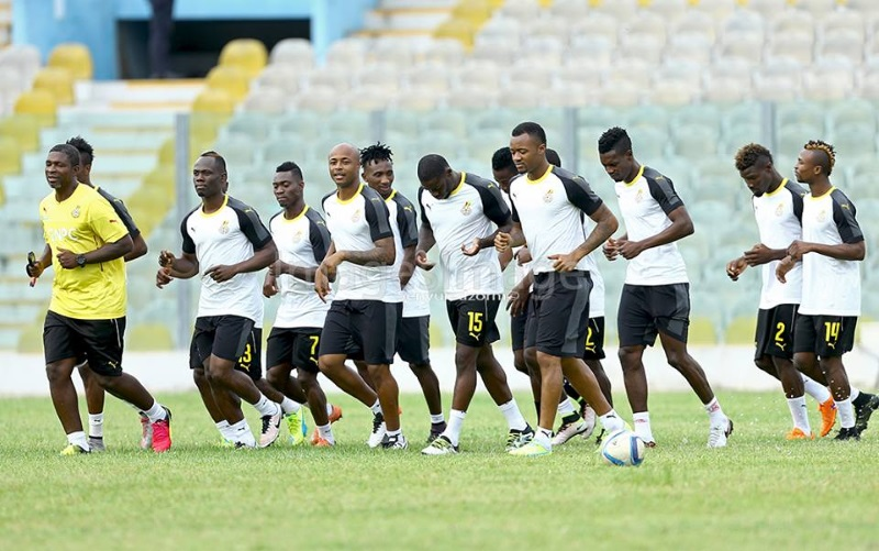 Black Stars warm-up in new kit