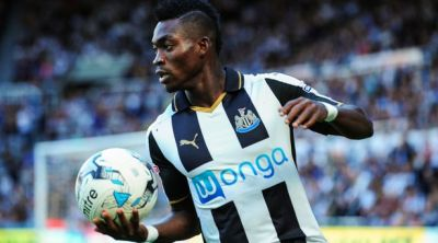 Atsu in action for Newcastle United