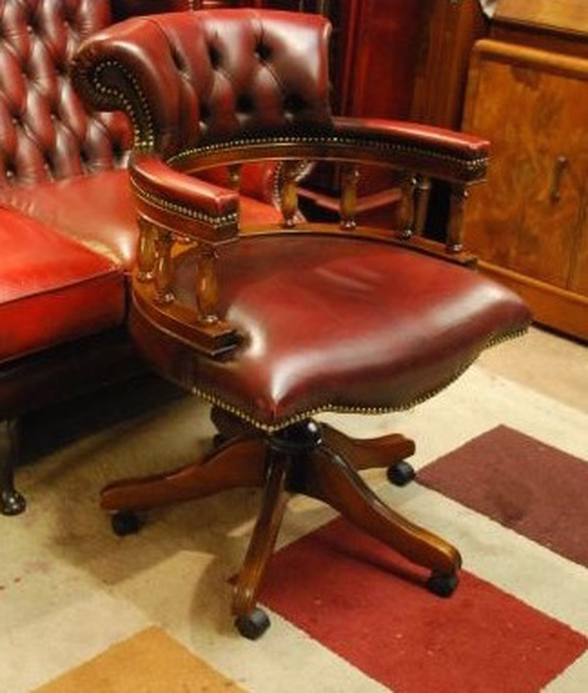 Antique Captains Chairs Mahogany Red Leather Chesterfield Office Captain  Chair Download Antique Captains - Antique Captain Chairs