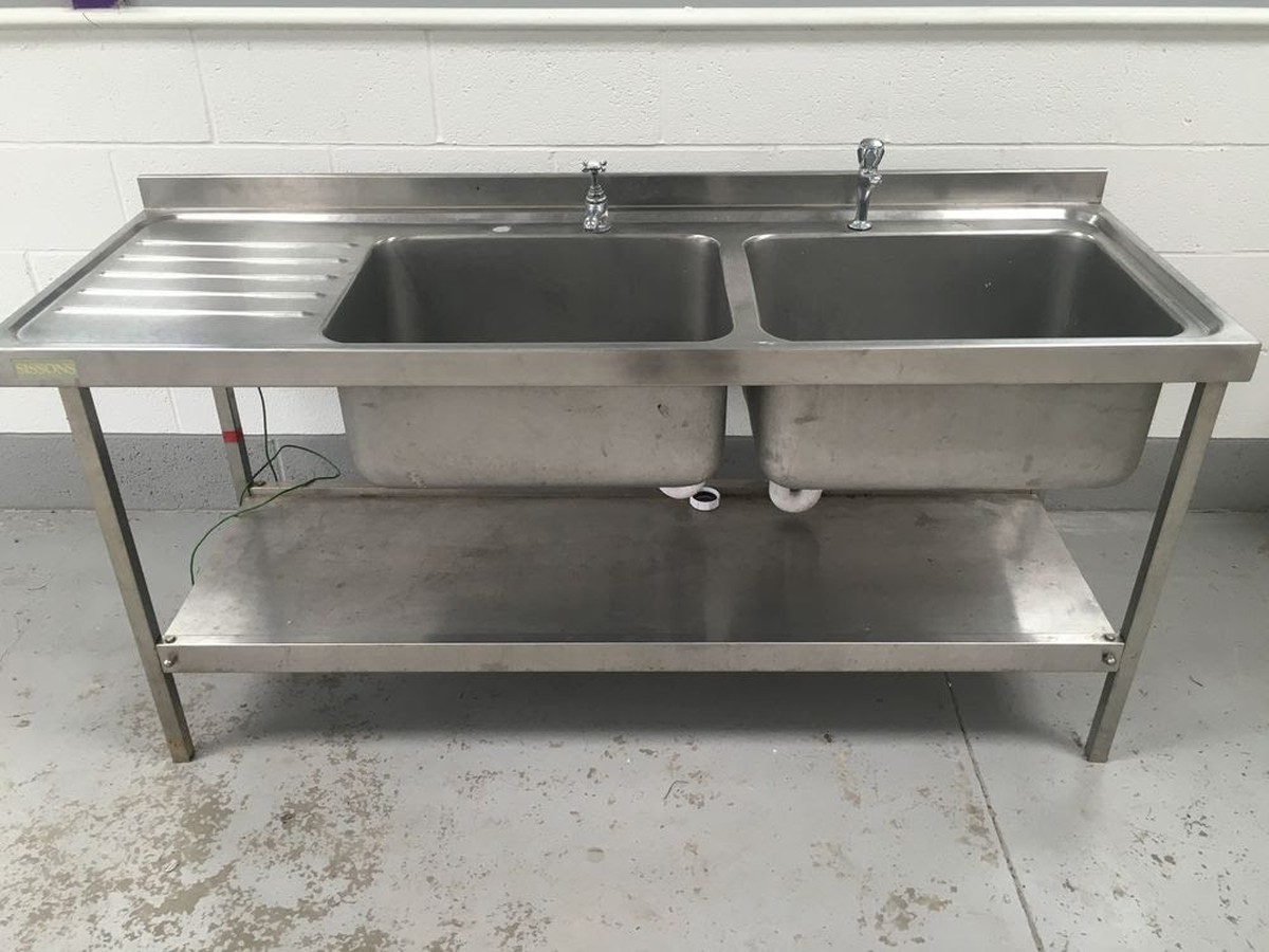 Secondhand Catering Equipment Double Sinks 1800mm