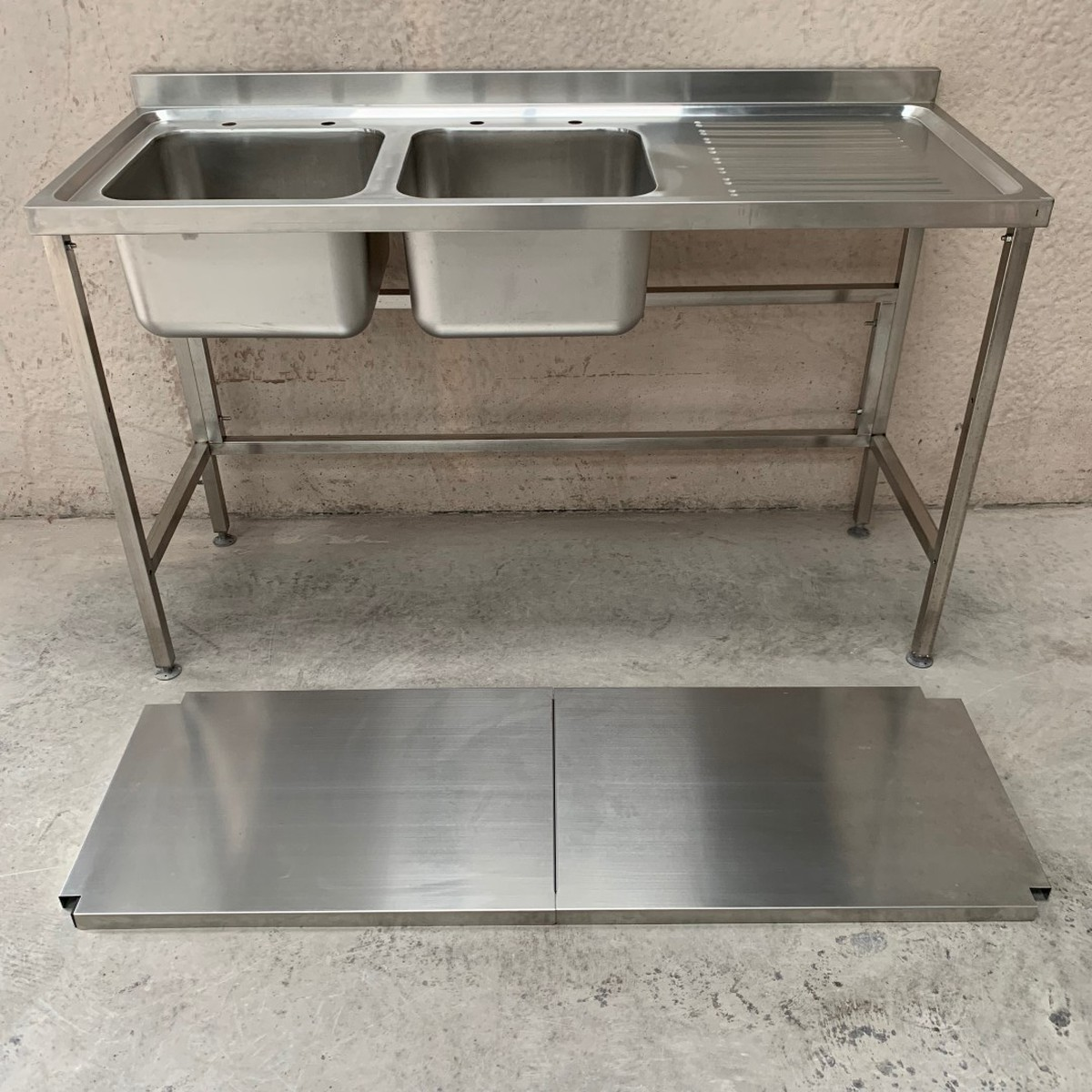 Stainless Steel Double Sink Secondhand Catering Equipment Double Sinks New
