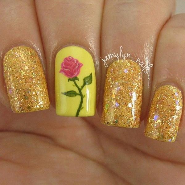 Nail La Belle: 45+ Pretty Flower Nail Designs