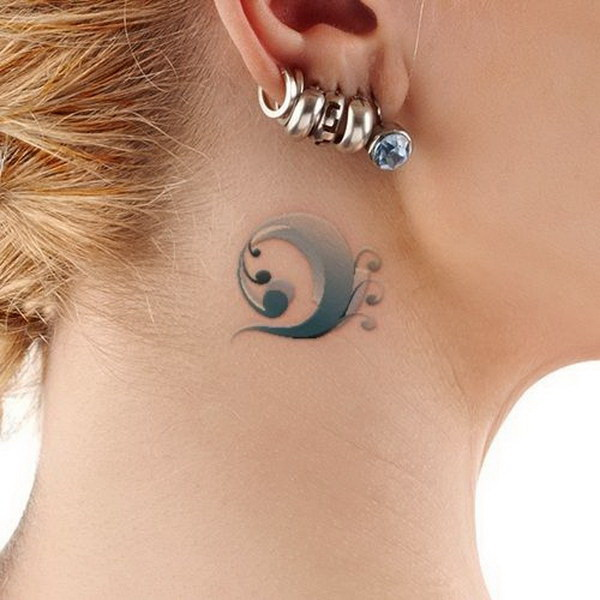 70 Pretty Behind The Ear Tattoos For Creative Juice