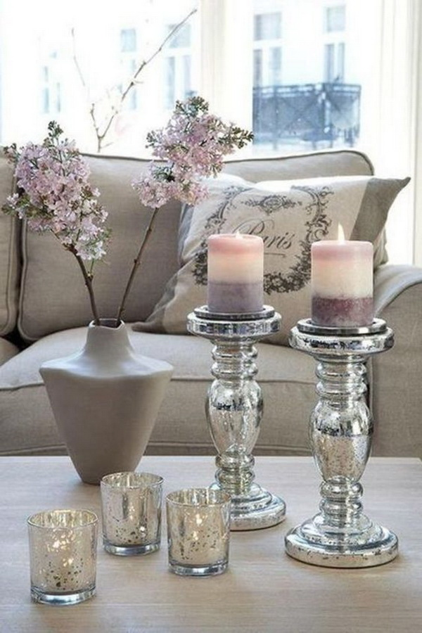 30 beautiful spring living room decoration with flowers for Room decor vases