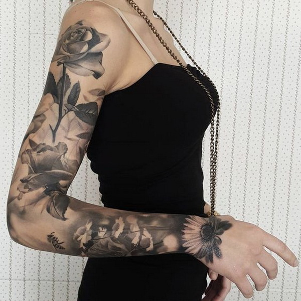30 Positive Tattoo Ideas For Women That Are Very: 30 Cool Sleeve Tattoo Designs