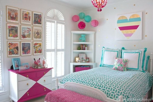 40 beautiful teenage girls 39 bedroom designs for for Diy poster bed