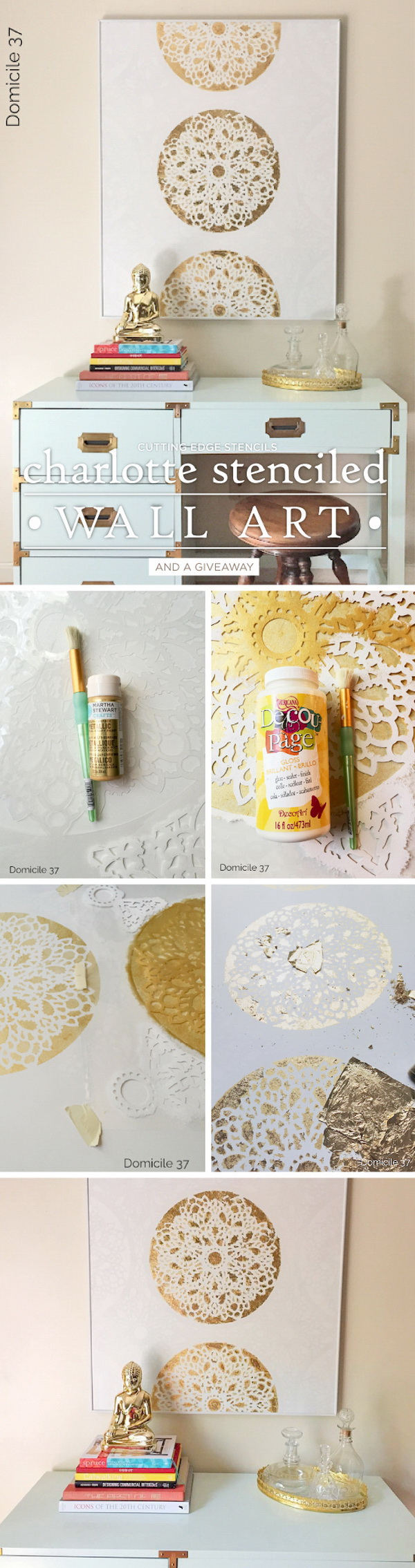 25 stunning diy wall art ideas tutorials for creative for Diy wall mural ideas