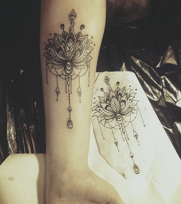 Back Mandala Tattoo: 55 Pretty Lotus Tattoo Designs