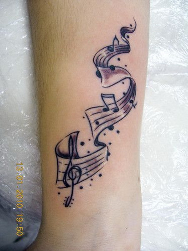 35 awesome music tattoos for creative juice. Black Bedroom Furniture Sets. Home Design Ideas