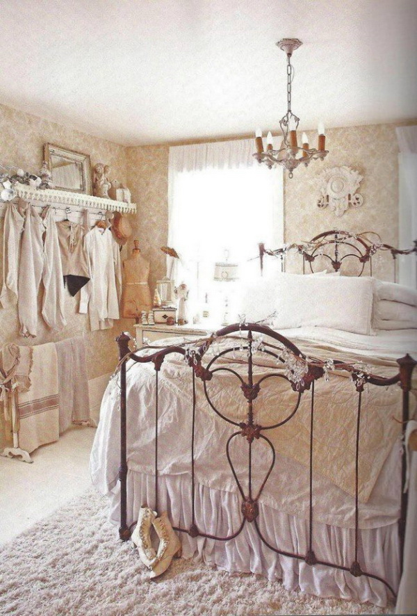 30 cool shabby chic bedroom decorating ideas for for Black and white vintage bedroom ideas