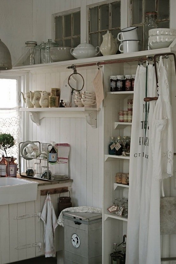 Keuken Interieur Chic 35 Awesome Shabby Chic Kitchen Designs, Accessories And Decor Ideas - For Creative Juice