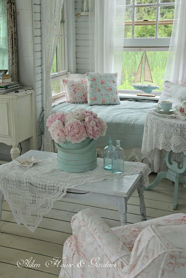 Shabby chic decorating ideas living room
