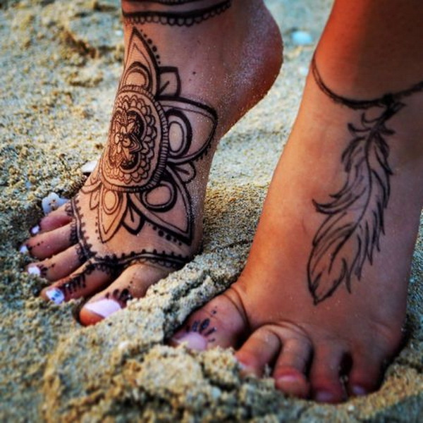 50 Catchy Ankle Tattoo Designs For Girls: 50+ Elegant Foot Tattoo Designs For Women