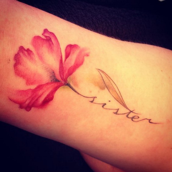 50 pretty flower tattoo ideas for creative juice for Tattoos with words