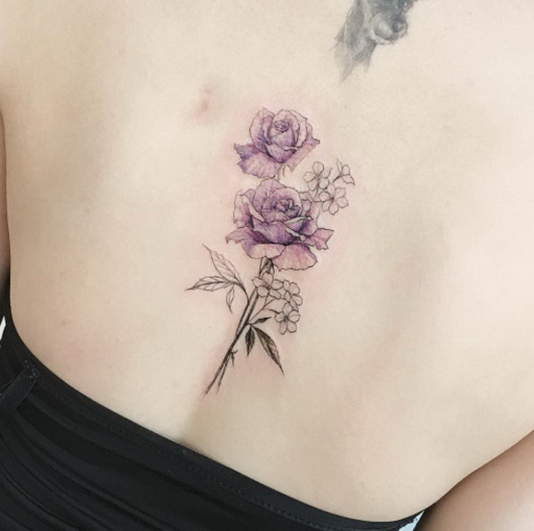 Lilac Flower Tattoo Designs
