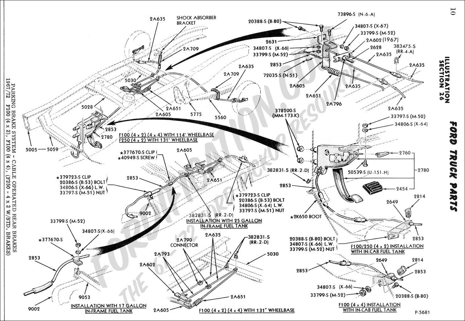 ford f250 brake line diagram