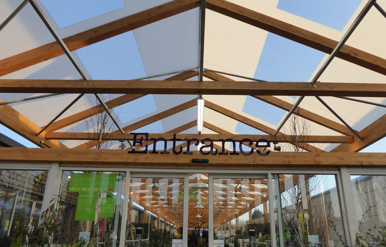 Structural Design Of Roof Garden Wyevale Garden Centre Cardiff - Fordingbridge Canopies