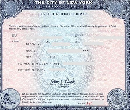 Birth Certificate New York New Car Release And Reviews - birth certificate