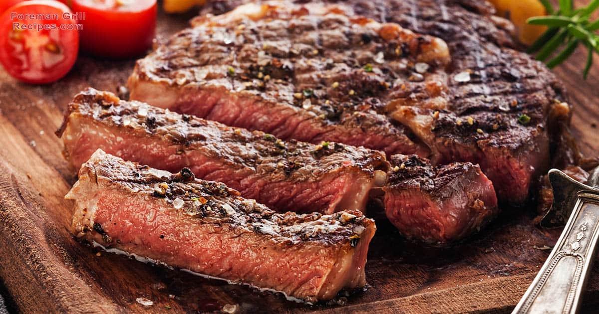 Easy Ribeye Steak - Foreman Grill Recipes
