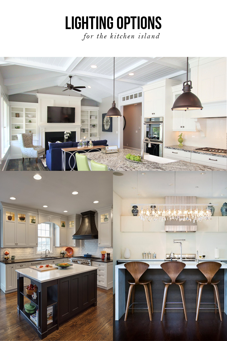 Over Island Lighting In Kitchen Lighting Options Over The Kitchen Island