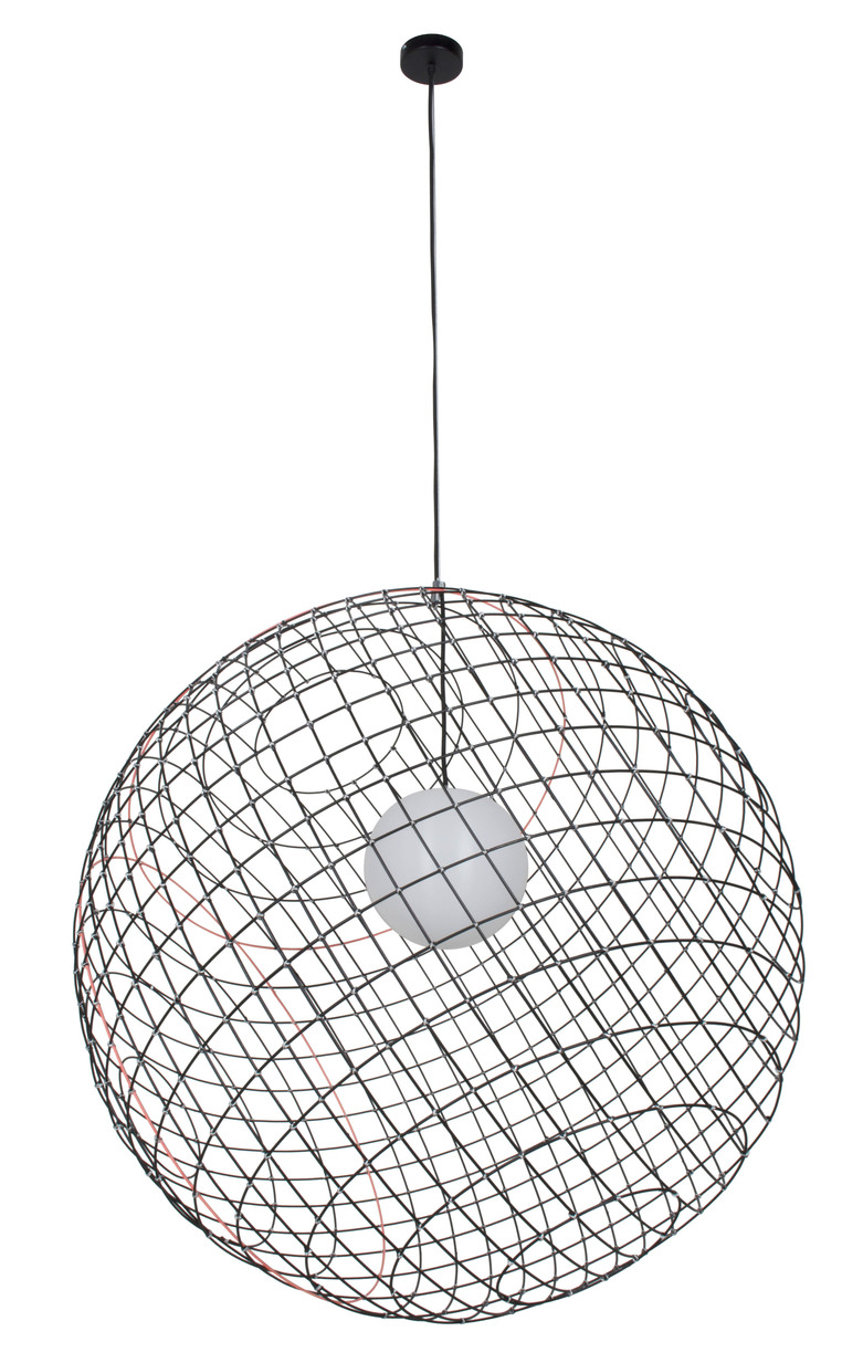 Suspension Noir Metal Suspension Sphere Metal ø105cm 3xl Noir