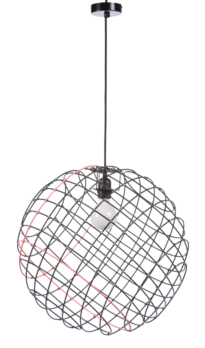 Suspension Noir Metal Suspension Sphere Metal ø50cm Xl Noir