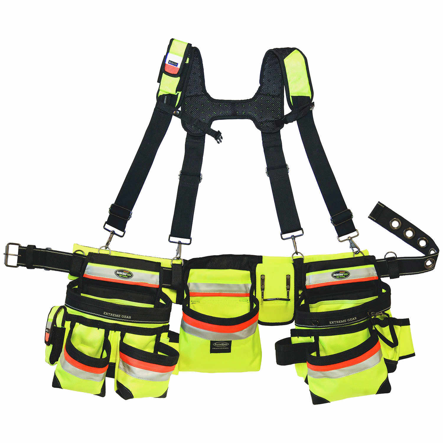 Construction Metal Products Inc Bucket Boss 3 Bag Hi Vis Framers Rig Forestry Suppliers