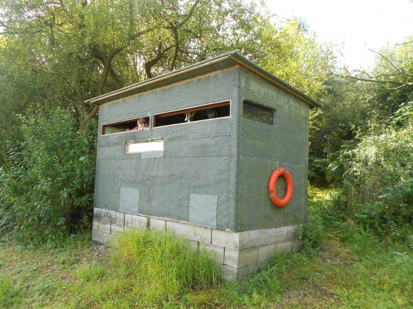 The 'education' hide.